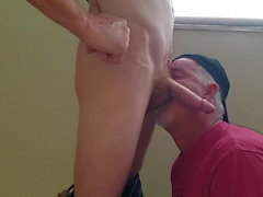 handy man drain his load