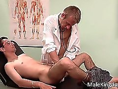 Filthy homo is laid on bed doctors part1