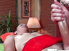 Guy gets oiled up for massage by massagevictim