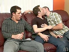 Cock eating threesome jason davis, emmanuel and johnny maverick