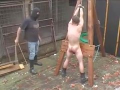 Slave punished for not doing his work good enough