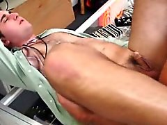 Amateur guys closeup asssex in pawnshop