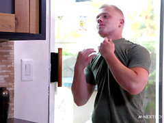 NextDoorStudios BIG Dick Daddy Pays Muscle Boy With Raw Anal