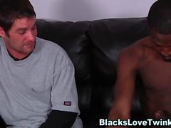 Black hunk drills gay ass