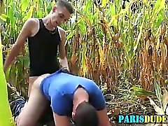 French amateur fucked and cummed on
