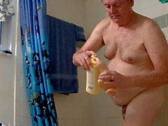 exercise, shower, dildos, shaving, tugging, prepuce, meatpipe