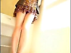 Amateur Japanese CD sexy legs masturbation