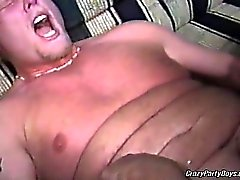 Amazing gay orgy with some hot chubby dudes. They are all