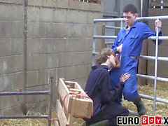 Homesteading twunk making rectal love with euro homo
