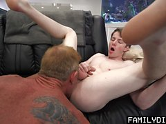 FamilyDick - Sweet Boy Barebacked By His Stepdad While Learning To Workout