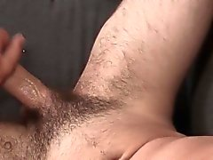 Muscular solo stud jerking off until he blows