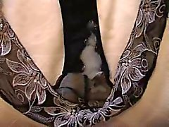 Cumming In Sandra's Worn Black Panties