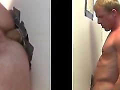 Anal sex at gay gloryhole for straight dude