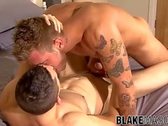 'British men Jed and Dominic Belko sucking and hard anal'