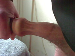 Creamy foreskin - with baseball bat then spoon