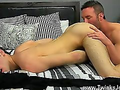 Gay clip of Brock Landon is thinking dinner plans, but his g