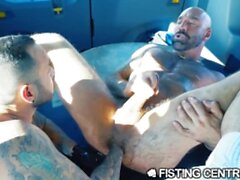 Hot Latino Jock Fist Fucks Drew Sebastian's Hairy Ass