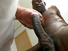 Big gay twink suck some huge black cock