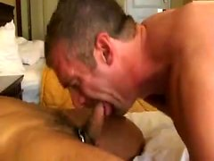Group sex action with three sexy nude gays kissing