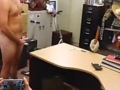 Straight amateur wanks off in pawn shop